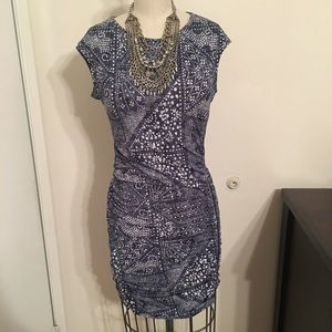 Bcbg blue body con dress